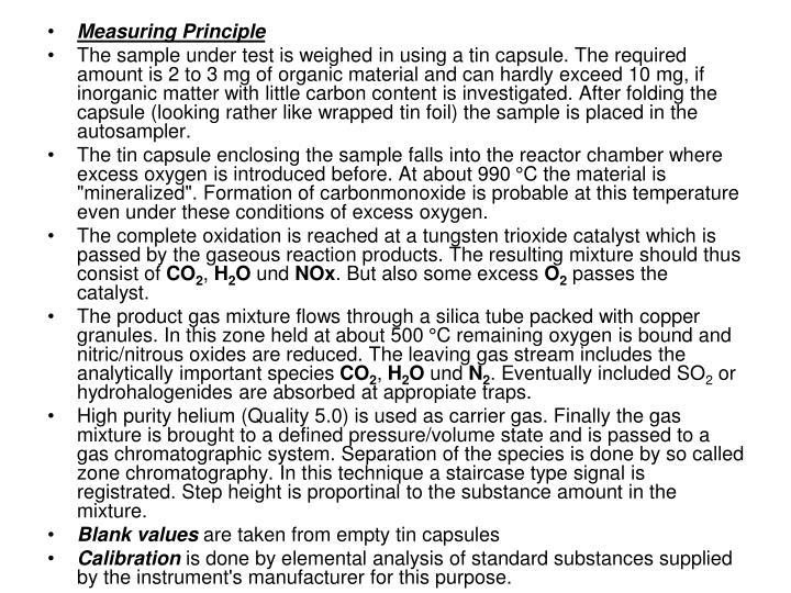 Measuring Principle