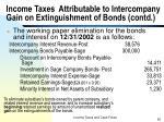 income taxes attributable to intercompany gain on extinguishment of bonds contd3
