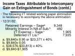 income taxes attributable to intercompany gain on extinguishment of bonds contd4
