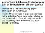 income taxes attributable to intercompany gain on extinguishment of bonds contd6