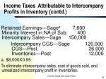 income taxes attributable to intercompany profits in inventory contd3