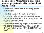 income taxes attributable to unrealized intercompany gain in a depreciable plant assets contd5