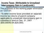 income taxes attributable to unrealized intercompany gain in land contd1