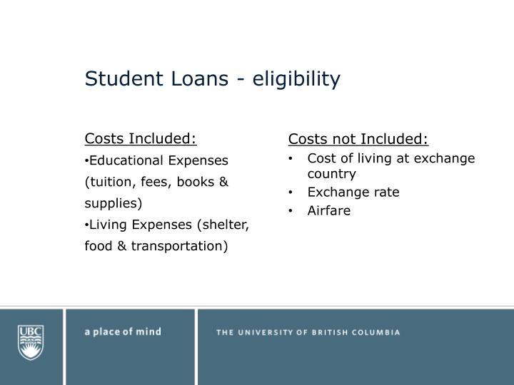 Student Loans - eligibility