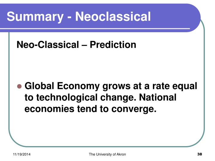 Summary - Neoclassical
