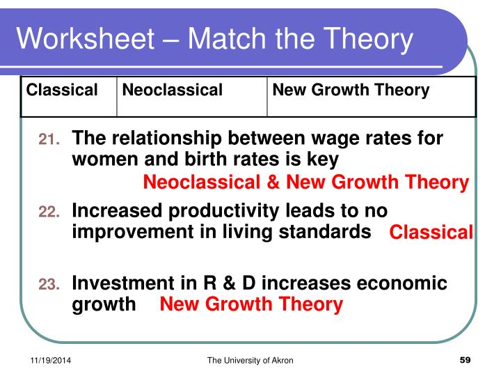 Worksheet – Match the Theory