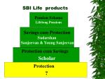 sbi life products