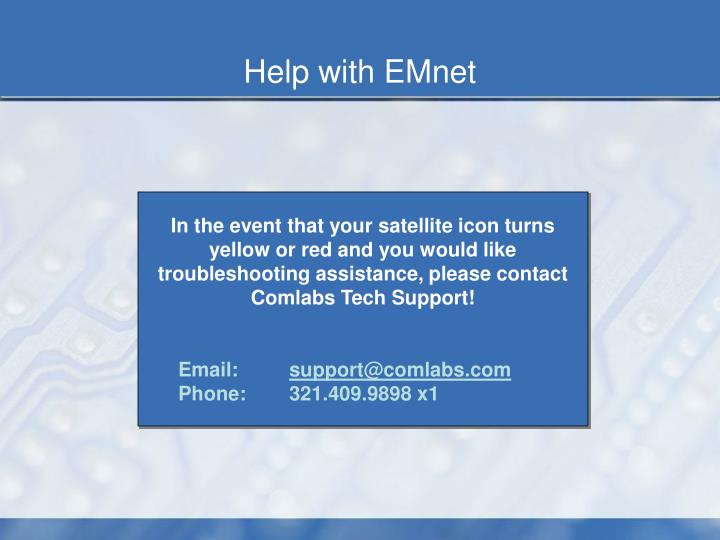 Help with EMnet