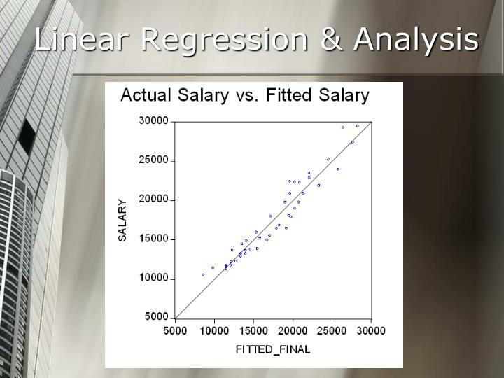 Linear Regression & Analysis