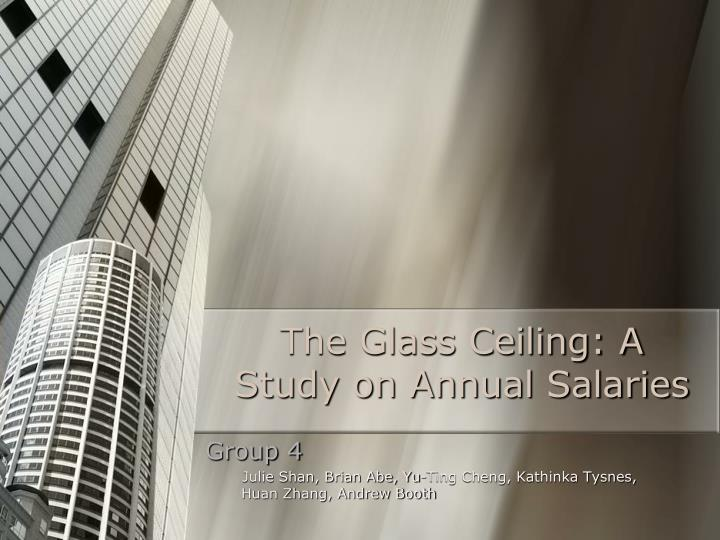 The glass ceiling a study on annual salaries