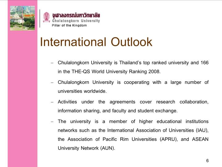 International Outlook