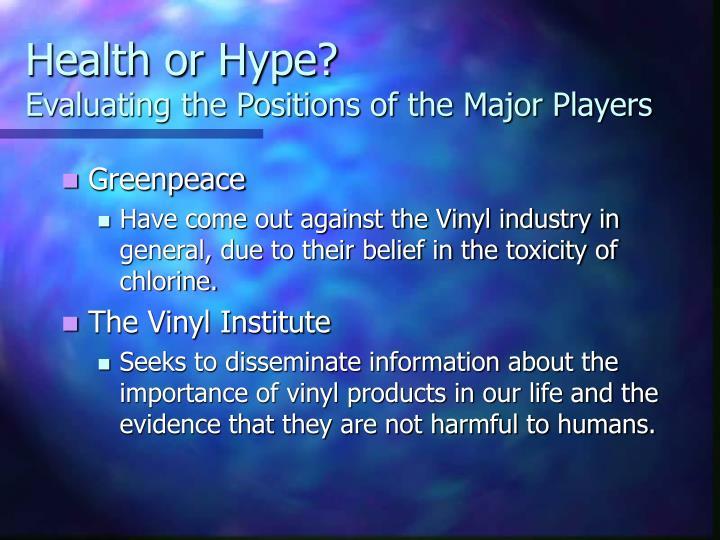 Health or Hype?