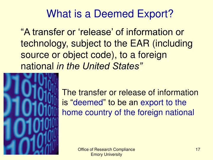 What is a Deemed Export?
