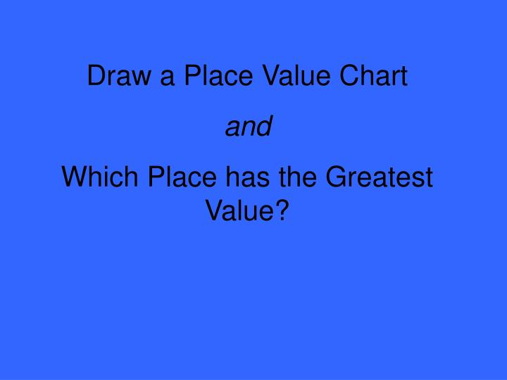 Draw a Place Value Chart