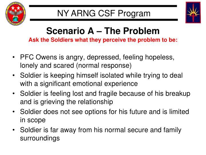 Scenario A – The Problem