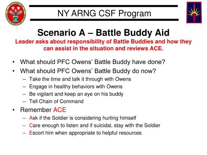 Scenario A – Battle Buddy Aid