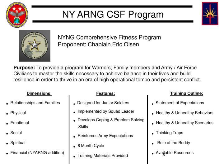 NYNG Comprehensive Fitness Program