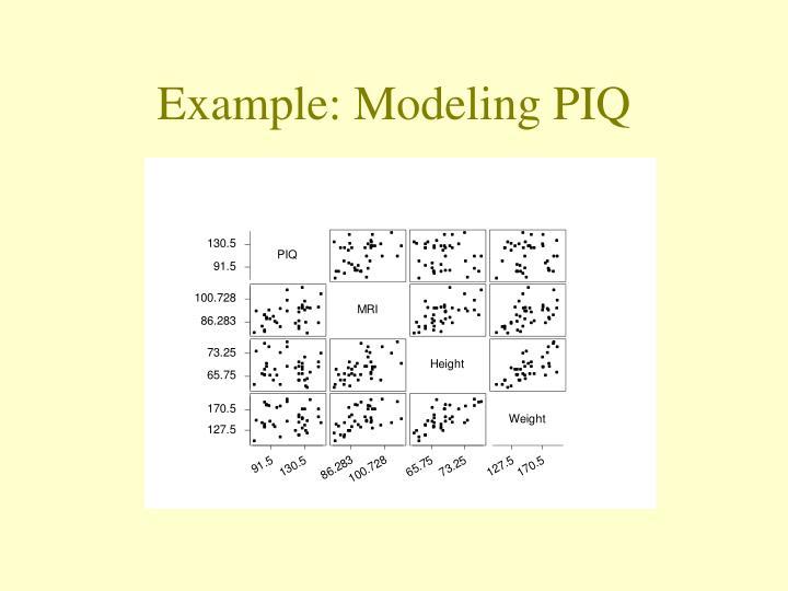 Example: Modeling PIQ