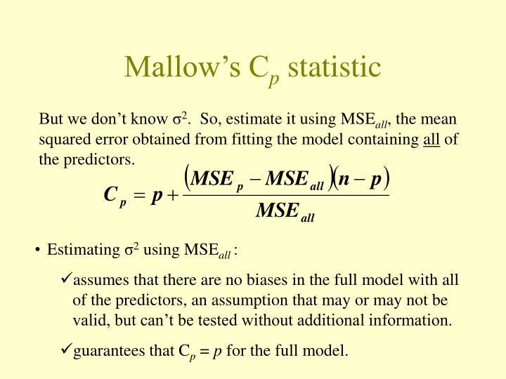 Mallow's C
