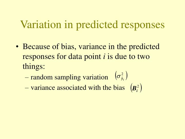 Variation in predicted responses