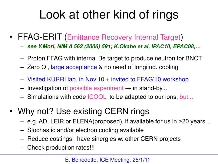 Look at other kind of rings