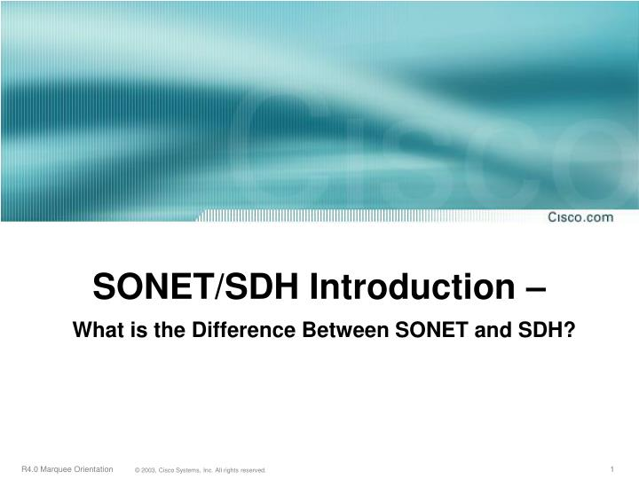 introduction to sdh