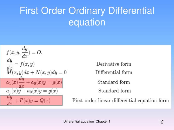 Ppt Ordinary Differential Equations Powerpoint Presentation Id
