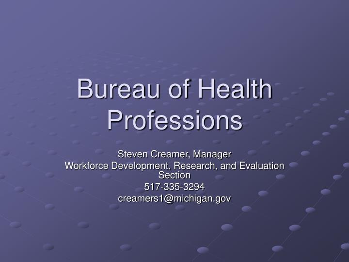 Bureau of Health Professions