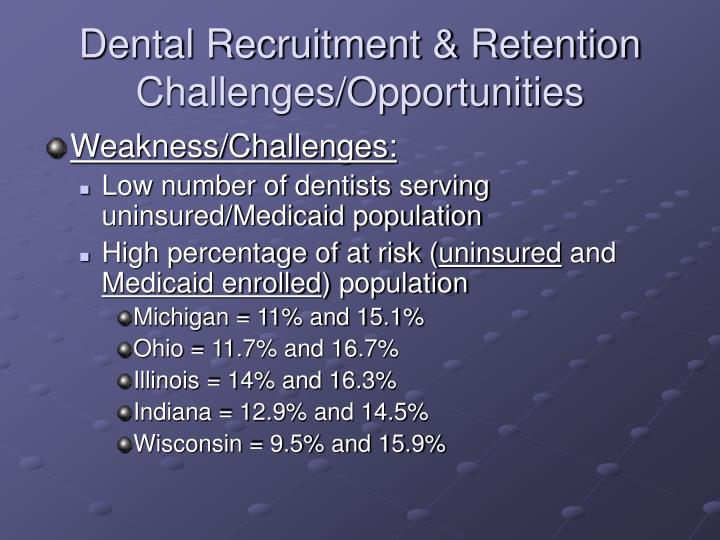 Dental Recruitment & Retention Challenges/Opportunities