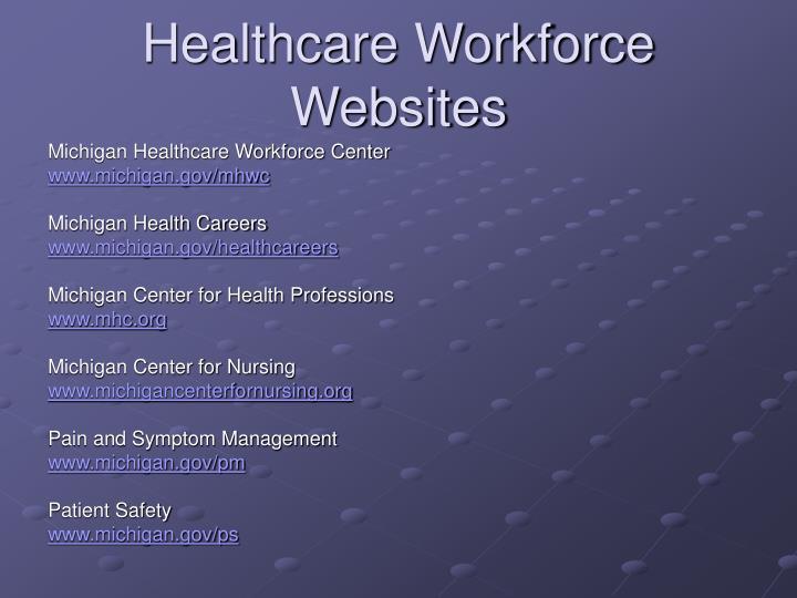 Healthcare Workforce Websites