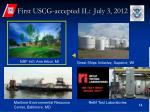 first uscg accepted il july 3 2012