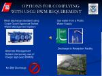 options for complying with uscg bwm requirement