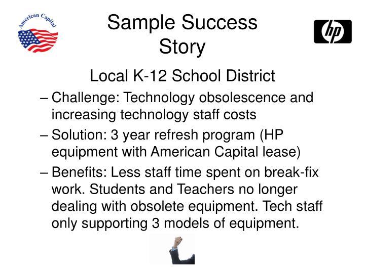 Sample Success