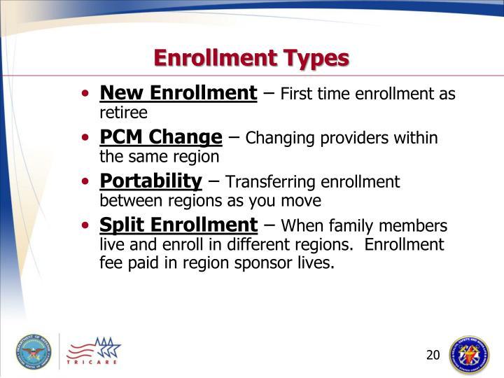 Enrollment Types