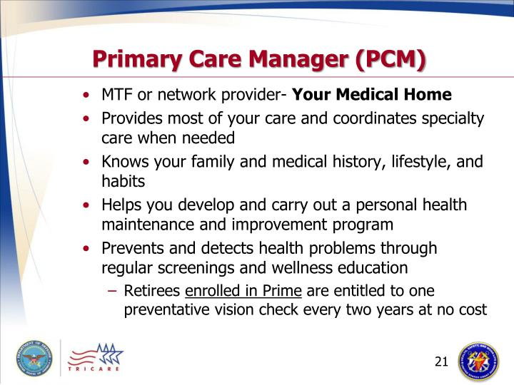 Primary Care Manager (PCM)