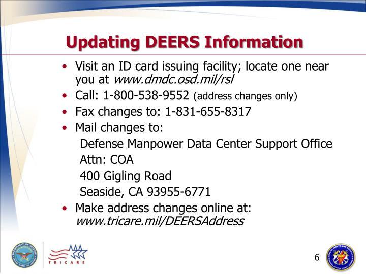 Updating DEERS Information
