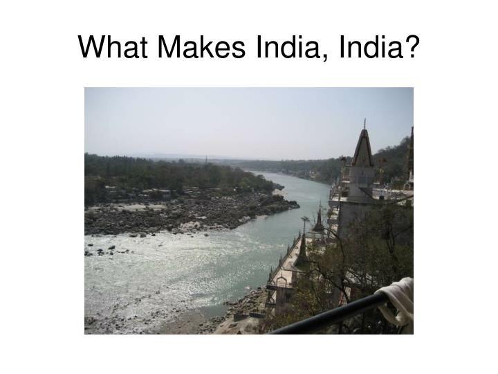 What makes india india