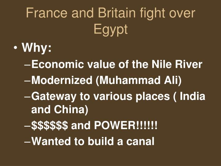 France and Britain fight over Egypt