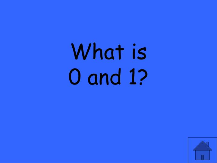 What is 0 and 1