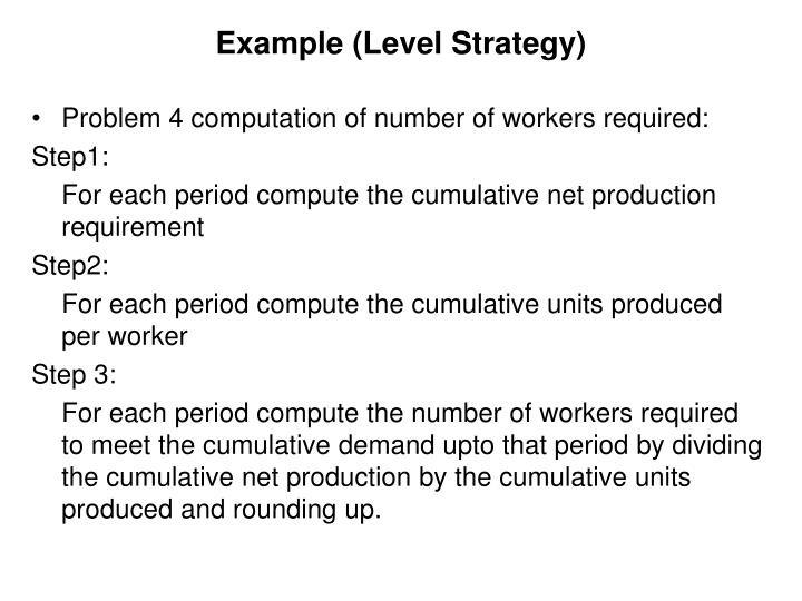 chase strategy essay example Using appropriate examples, describe the different approaches that operations • level capacity strategy • chase capacity strategy example: mass production.