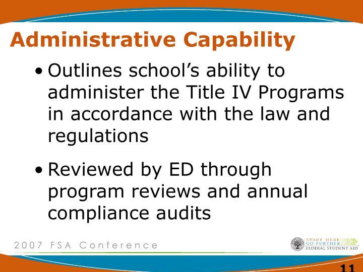 Administrative Capability