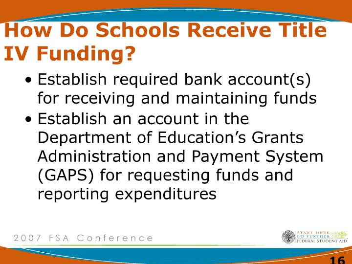 How Do Schools Receive Title IV Funding?