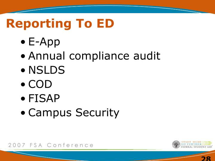 Reporting To ED