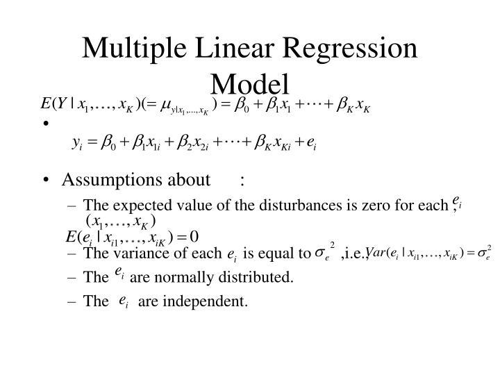 Multiple Linear Regression Model