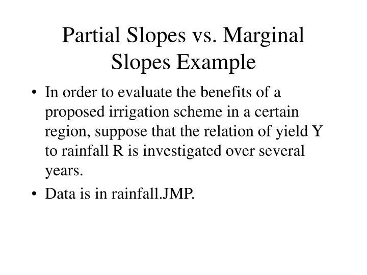 Partial Slopes vs. Marginal Slopes Example