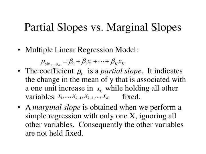 Partial Slopes vs. Marginal Slopes