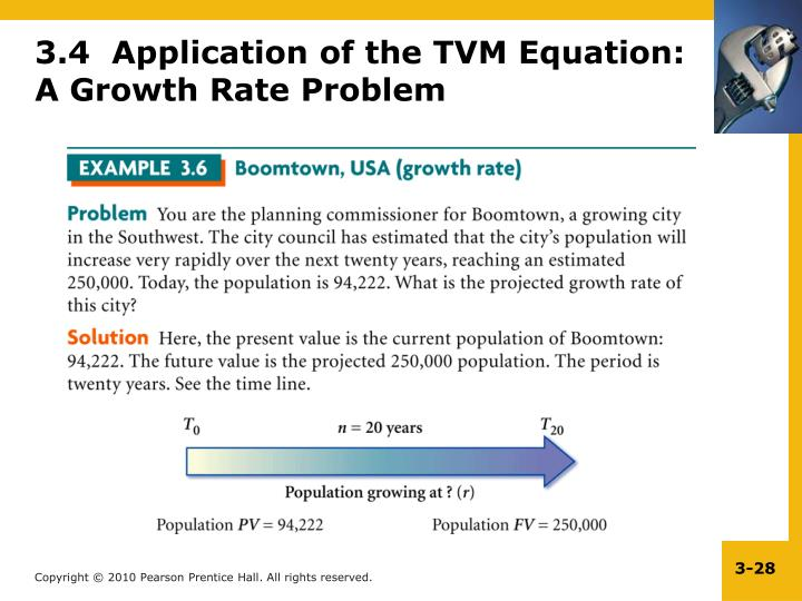 3.4  Application of the TVM Equation: A Growth Rate Problem