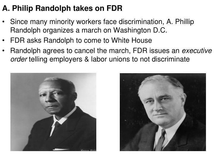 A. Philip Randolph takes on FDR