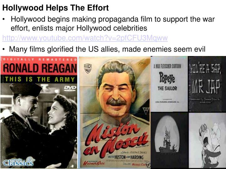 Hollywood Helps The Effort