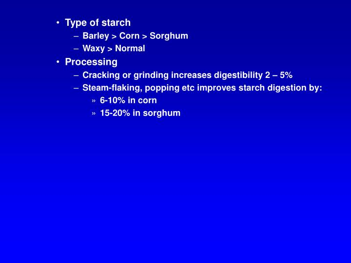 Type of starch